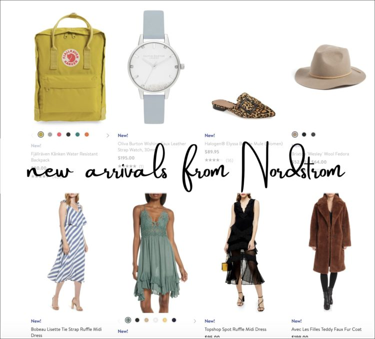 a screenshot from the nordstrom new arrivals for women section of their website