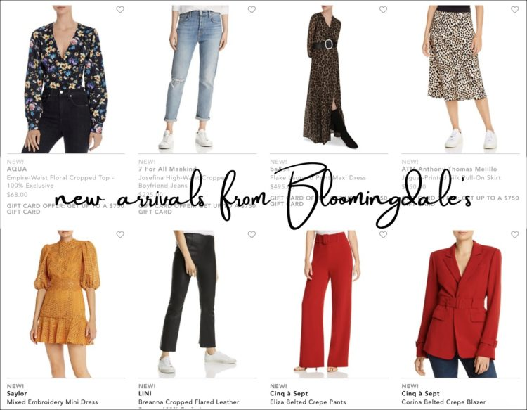 screenshot from the women's new arrivals at the Bloomingdale's website