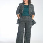 Wardrobe Oxygen in the cabi Bond Trouser and Bond Blazer unbuttoned over the mist Top