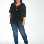 Wardrobe Oxygen in the cabi Reveal Tee and Tuxedo High Straight jeans