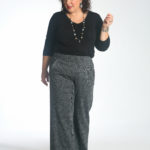 Wardrobe Oxygen in the cabi Reveal Tee tucked into the Bond Trouser