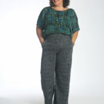 Wardrobe Oxygen in the cabi Paradox Top tucked into the Bond Trouser