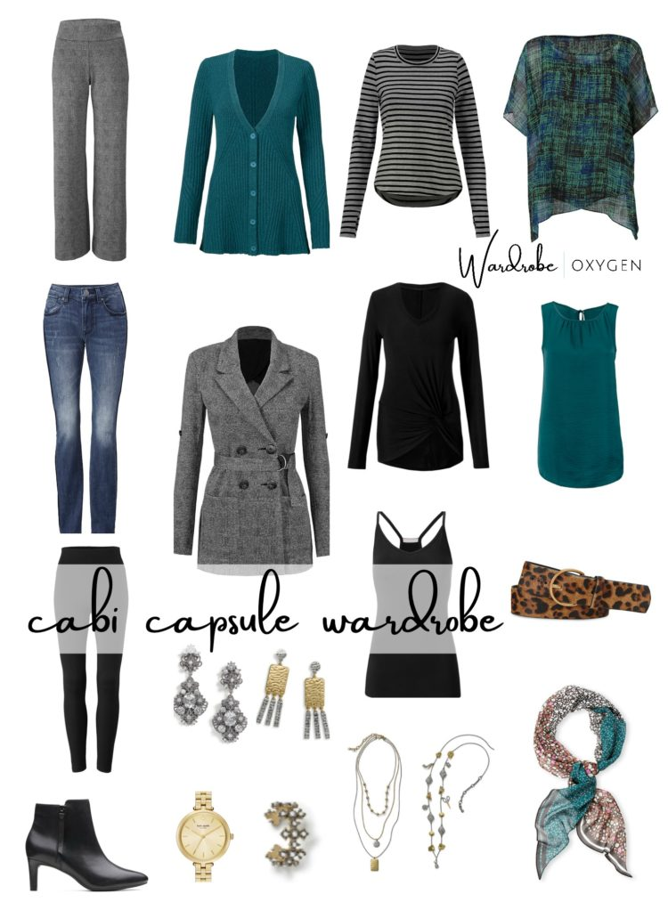 collage of the items in the fall 2019 cabi capsule wardrobe