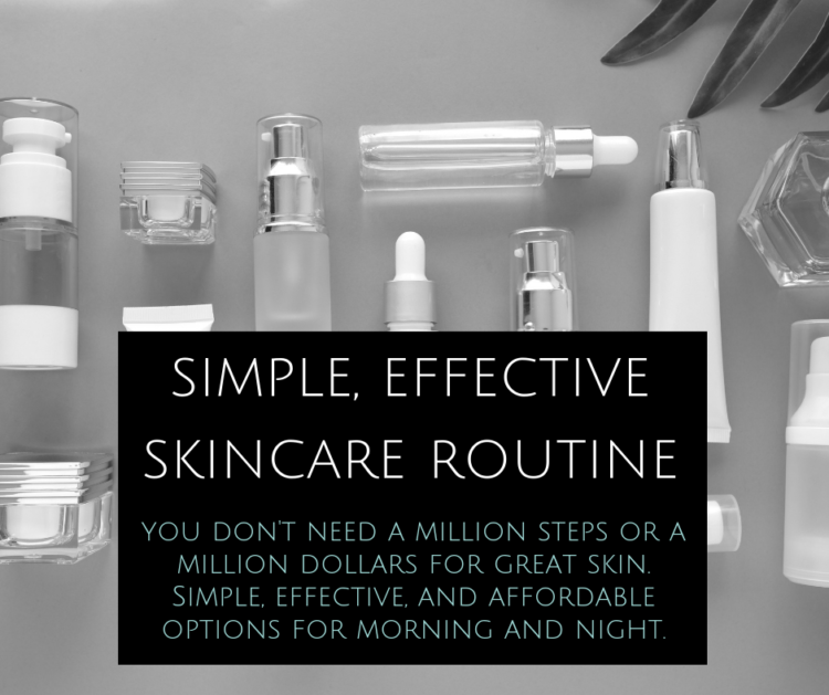 simple effective skincare routine over 40