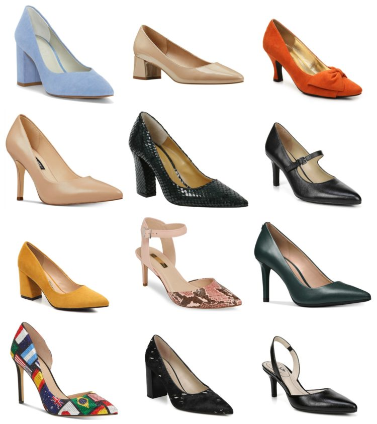 Stylish wide width pumps under $100