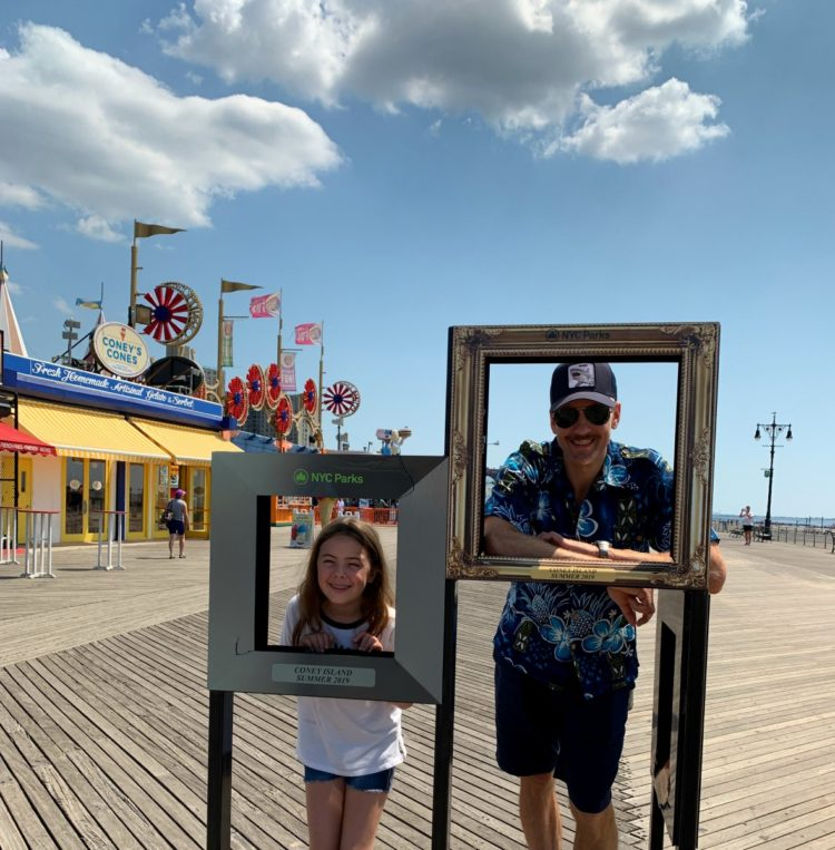 visiting coney island as a family
