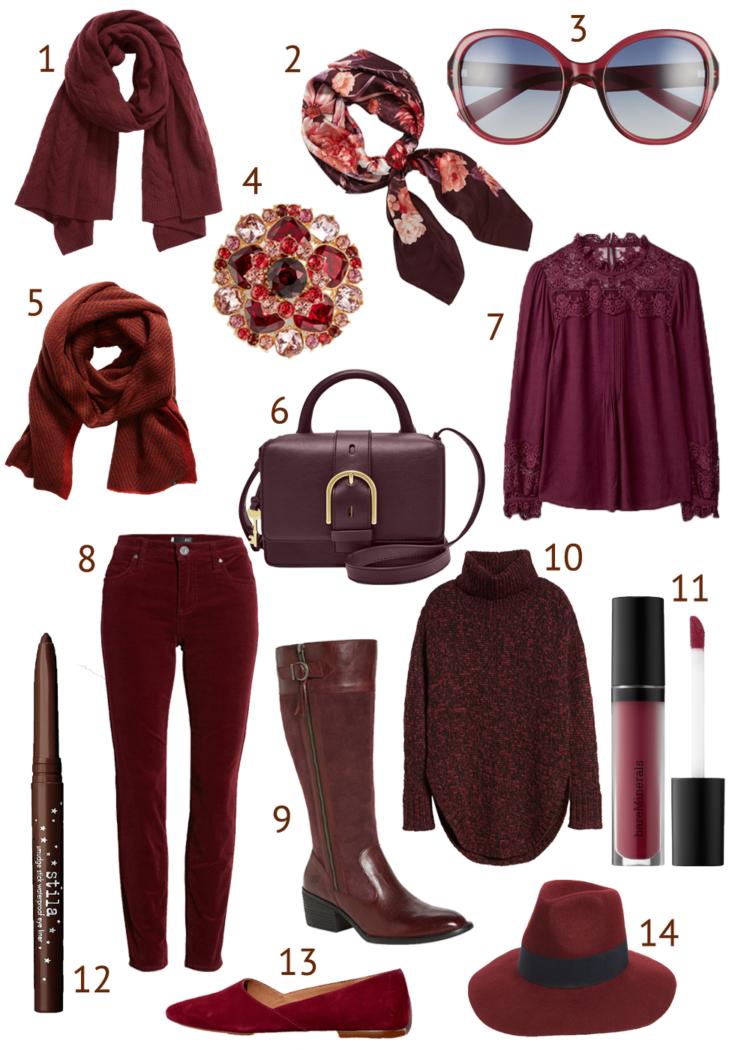 burgundy how to wear it