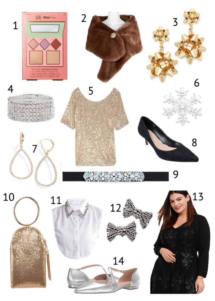 holiday glam looks for less