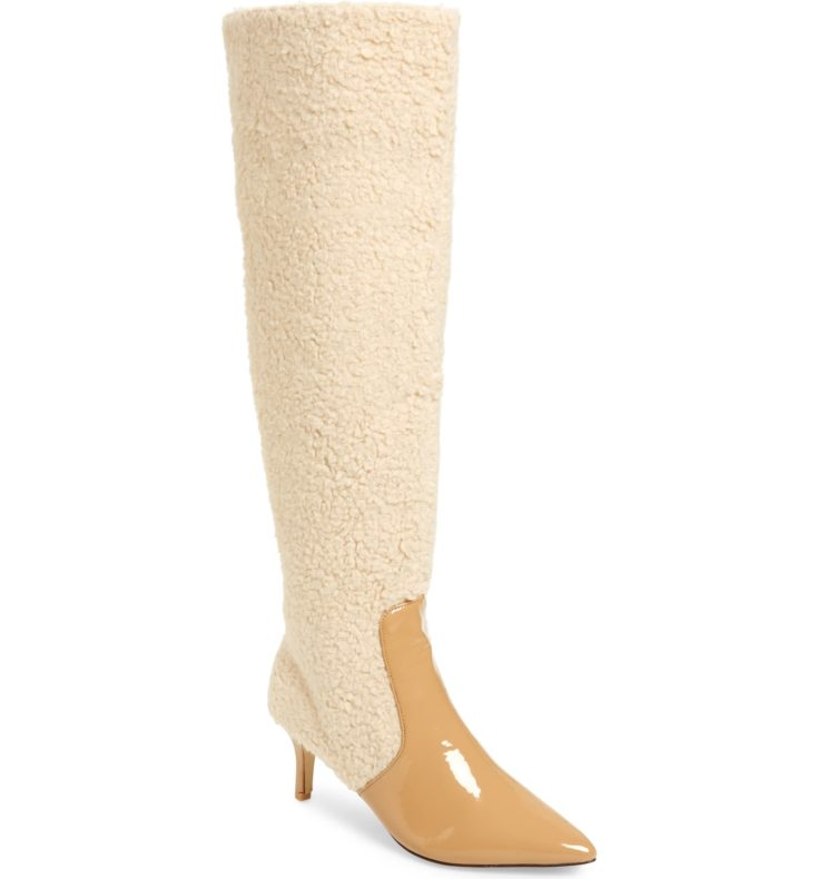 Jaggar Piped Faux Shearling Over the Knee Boot