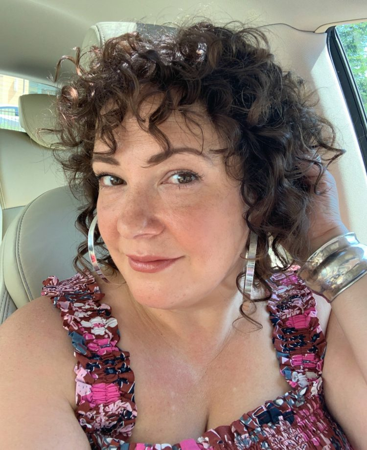 curly hair with conditioner
