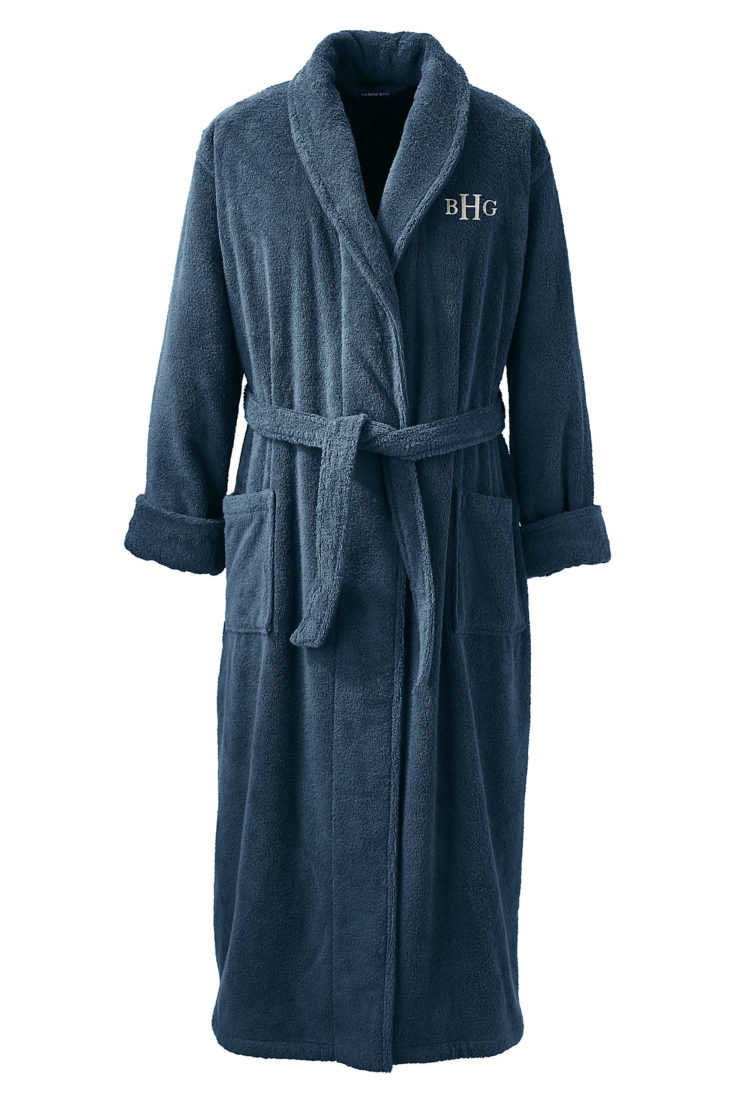 Lands' End Full Length Turkish Terry Robe