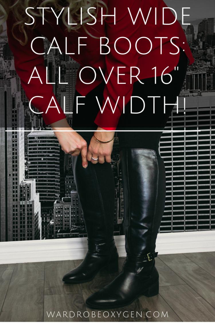 Walking Cradles Womens Kristen Extra Wide Calf Black 6.5 M US