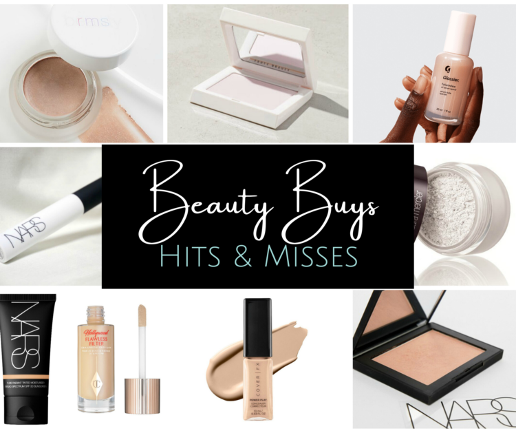 Collage of makeup products