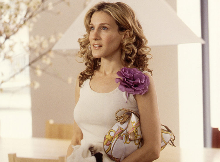 carrie bradshaw flower pin