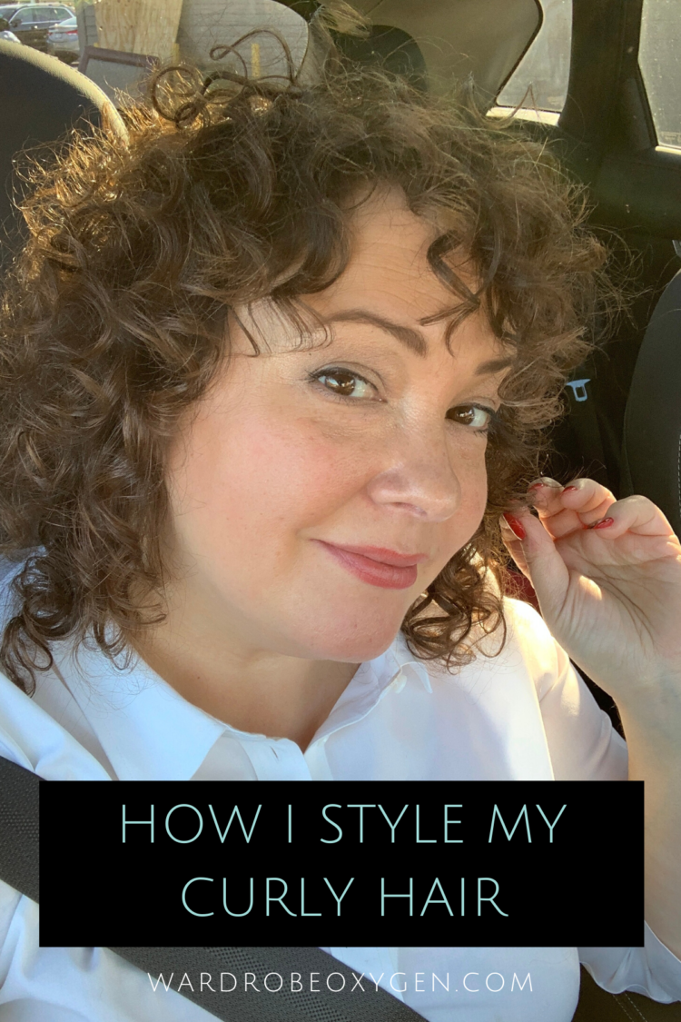 how i style my curly fine hair