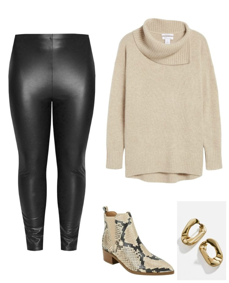 how to style faux leather leggings in 2020