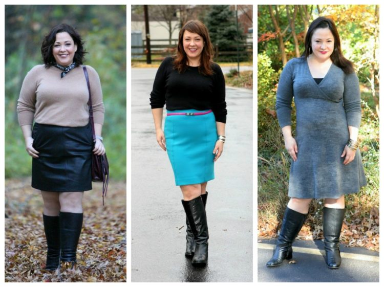 styling knee high boots with short skirts