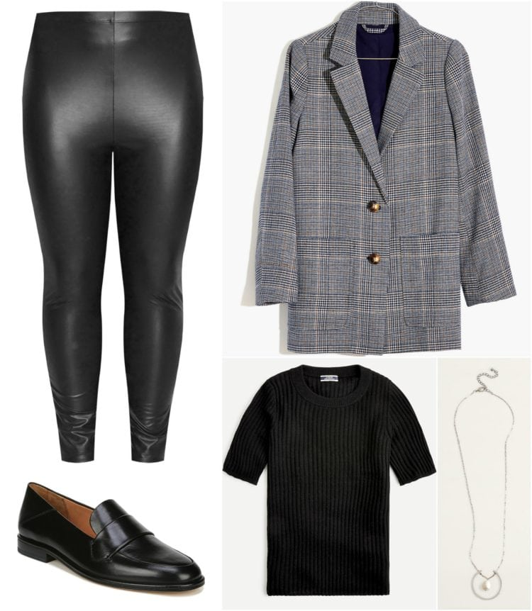 tips on how to style faux leather leggings for work