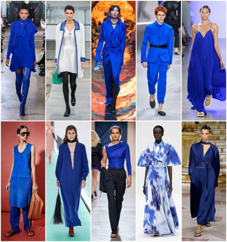pantone classic blue runway looks