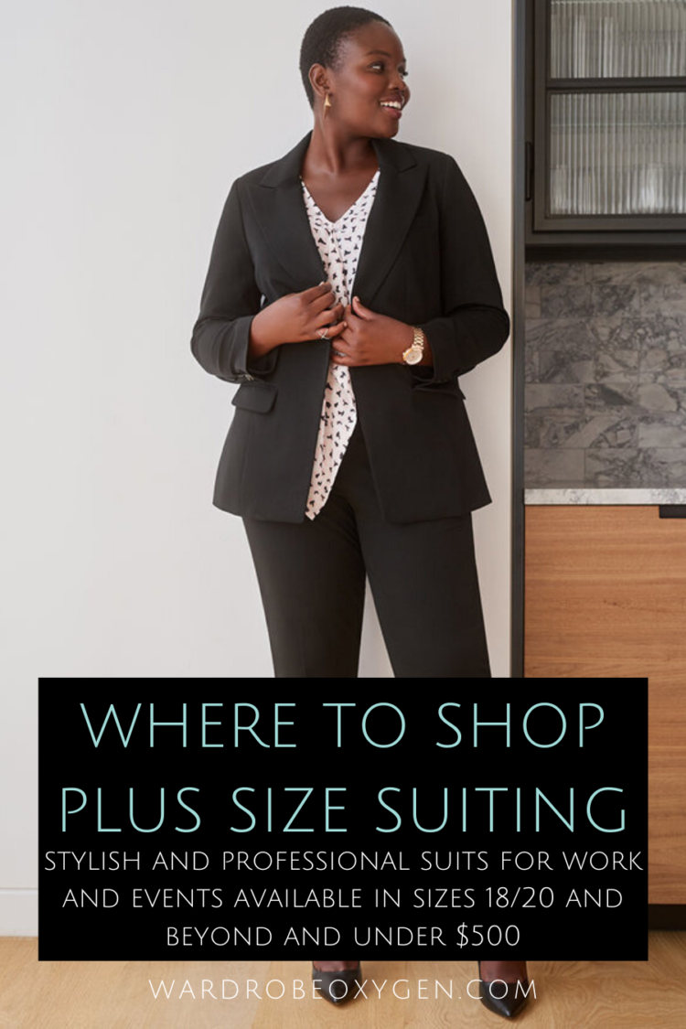 where to find plus size suits for work