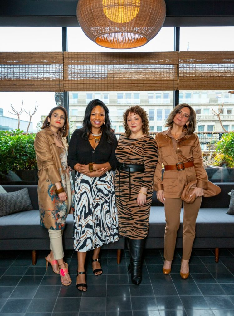Tanvi, Angelica in the City, Wardrobe Oxygen, and Simply Sylvia wearing the Chico's Safari Chic Collection in 2020