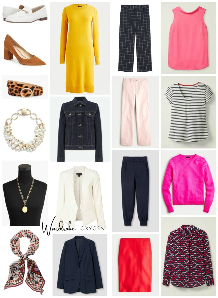 work capsule wardrobe colorful women