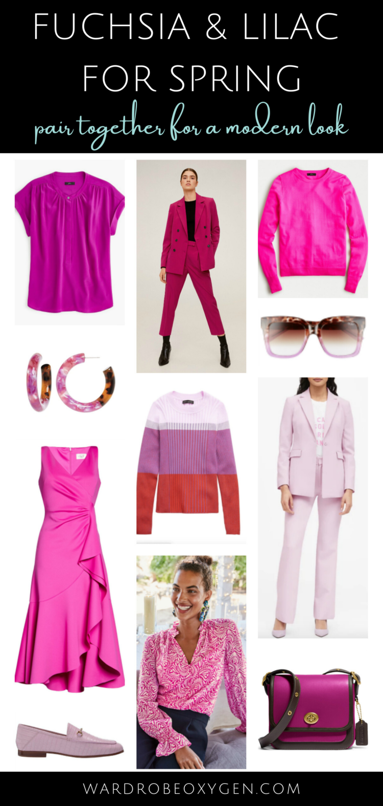 purple and pink for spring color trends