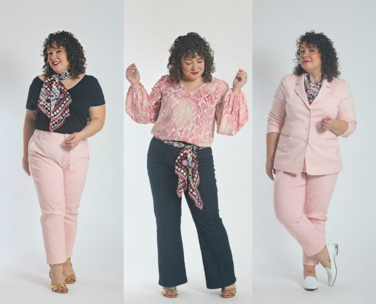 how to style the cabi shrimpton scarf