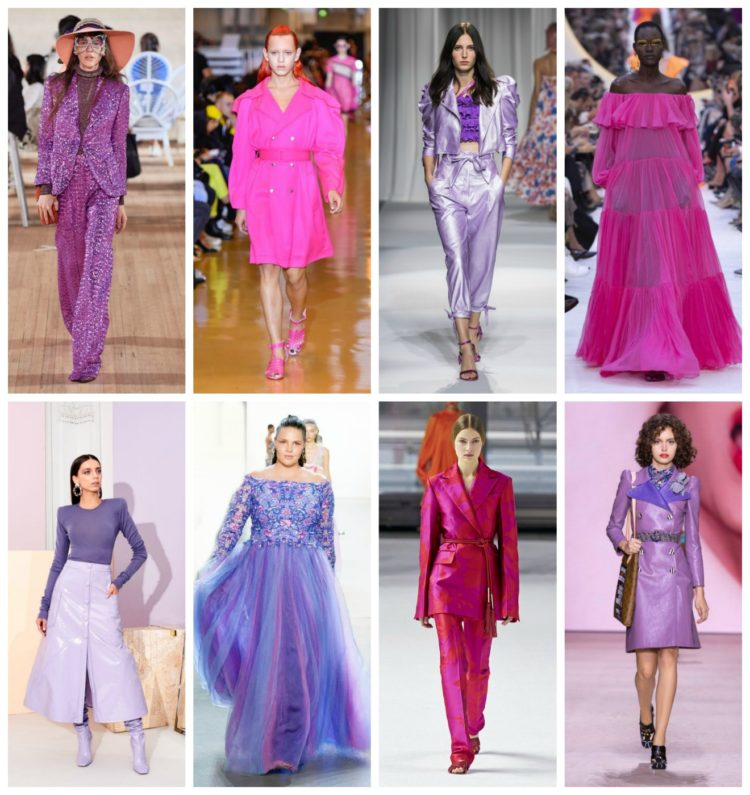 pink and purple runway looks for spring