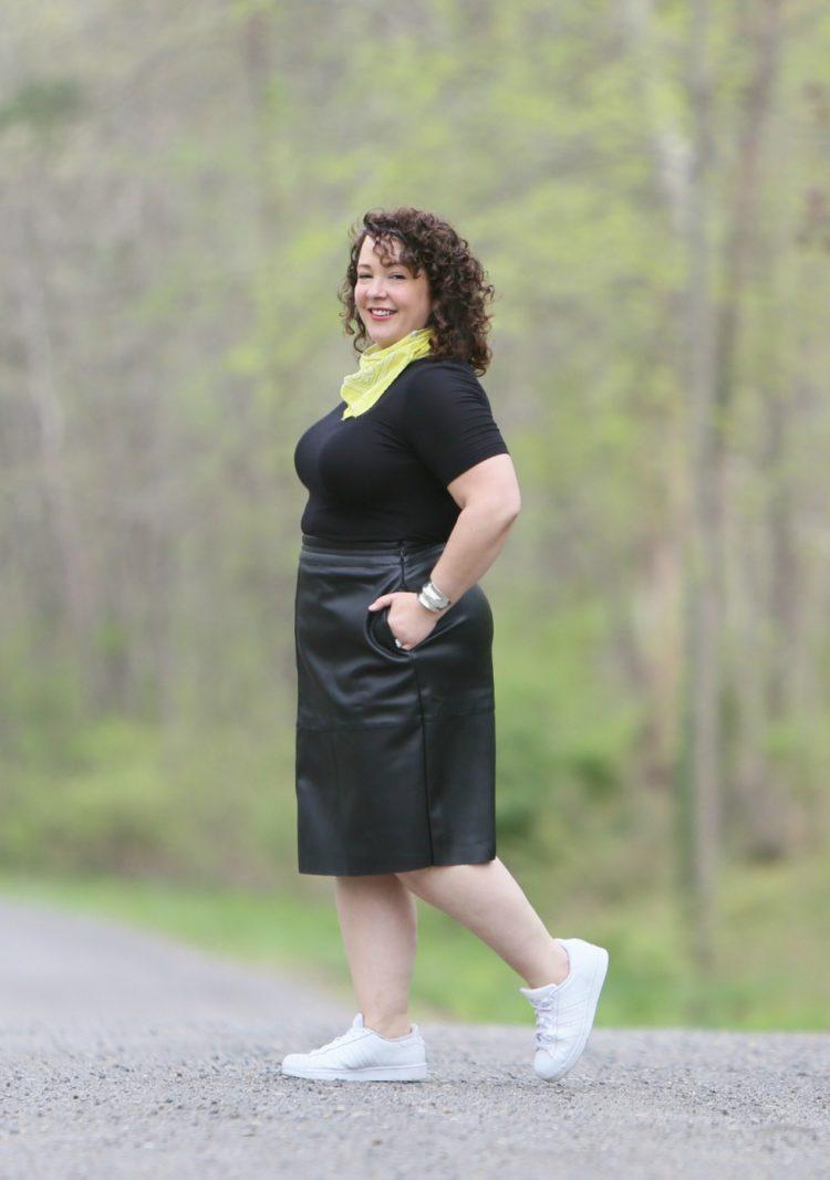 universal standard leather skirt