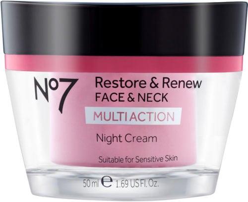 No7 Restore Renew Face Neck Multi Action Night Cream