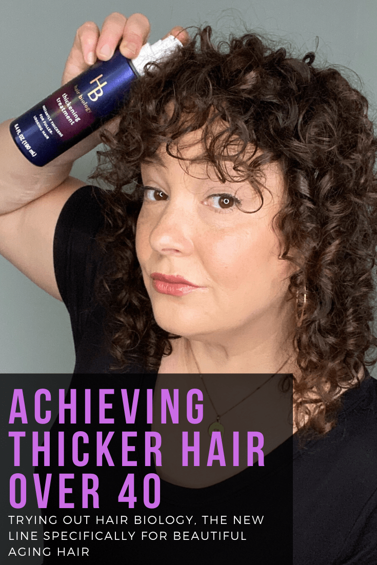 how to get thicker hair over 40 thinning