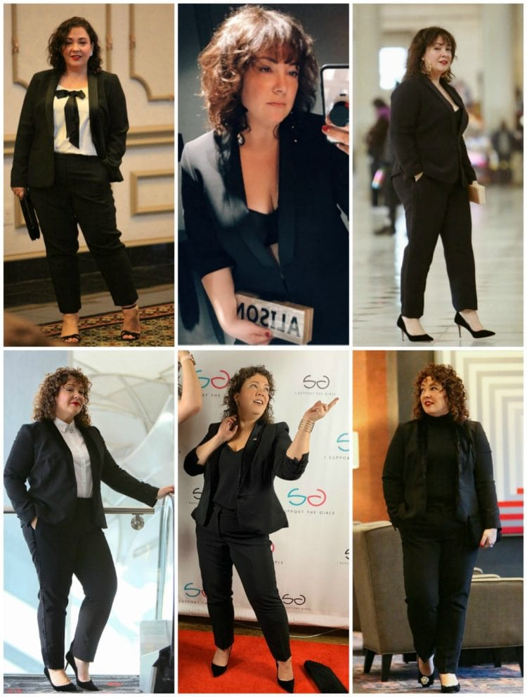 how to style a lady tux multiple ways