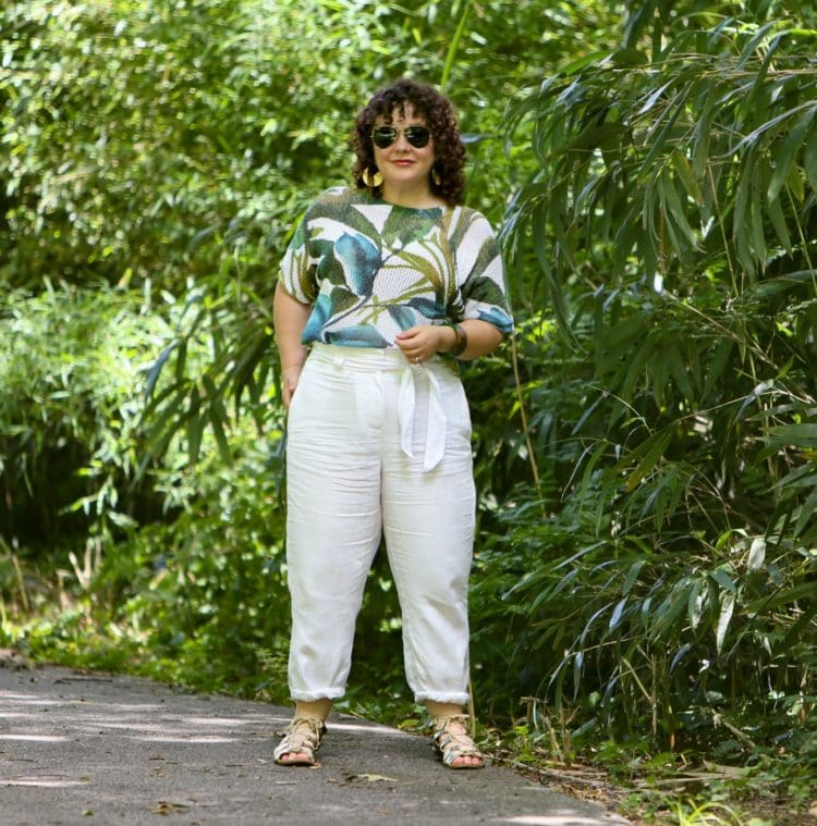 white linen pants cropped