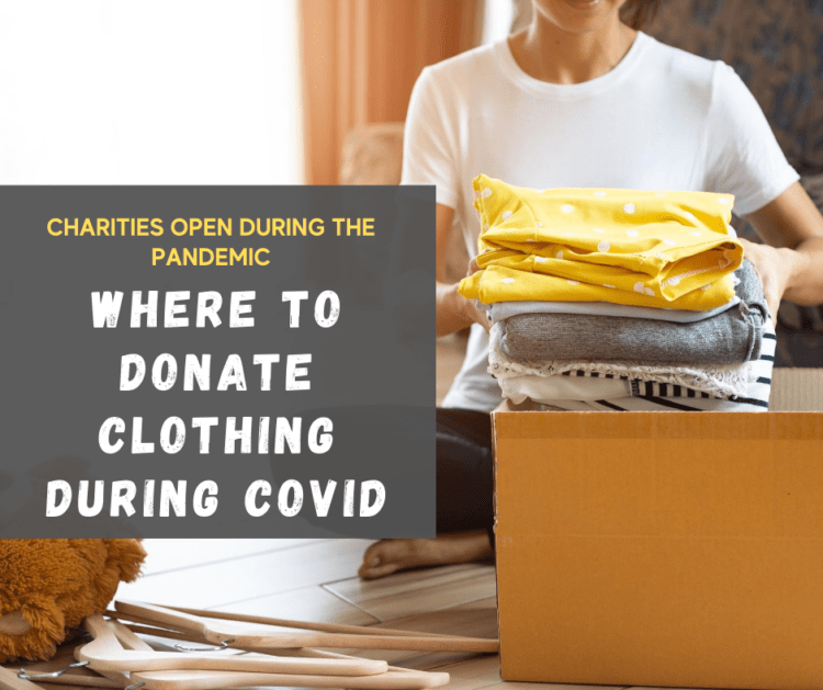 donating clothing during covid