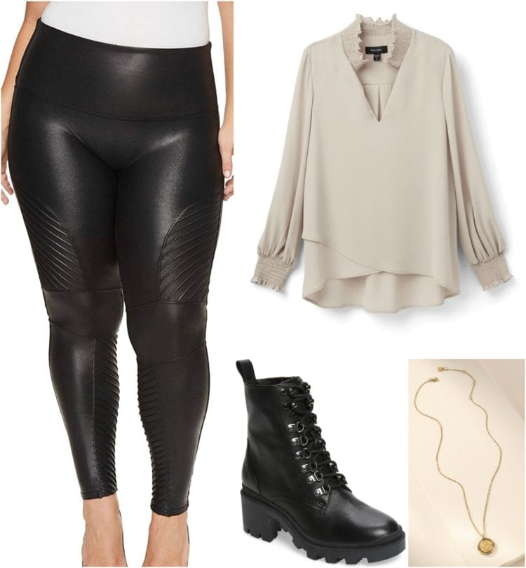 how to style moto faux leather leggings 1