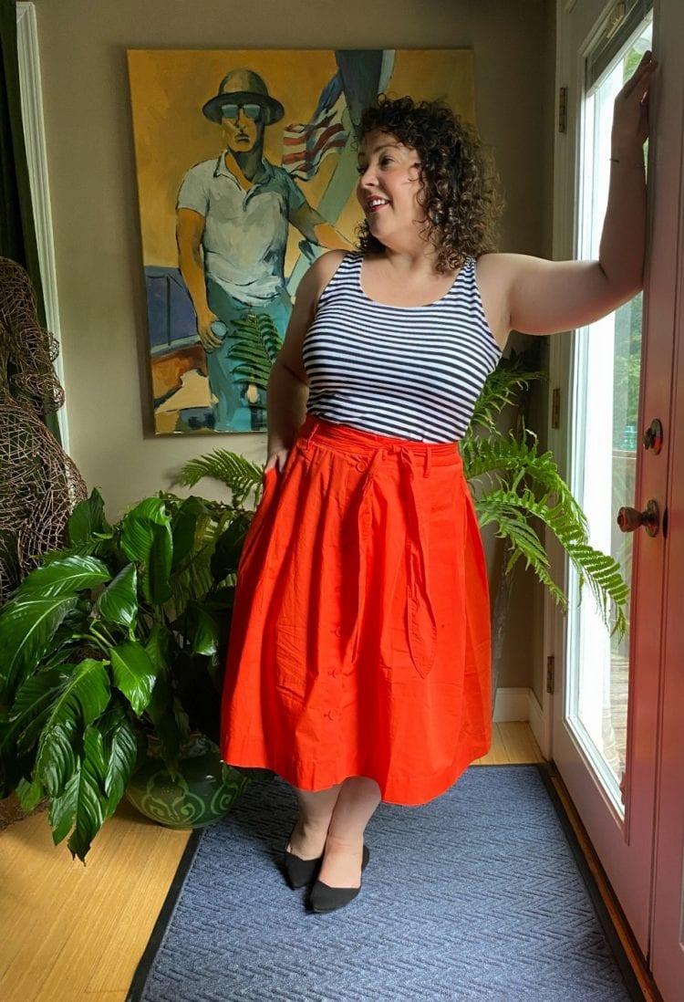 size 14 over 40 fashion blogger