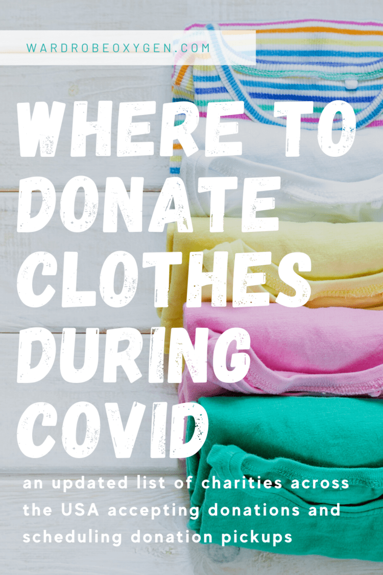where to donate clothes during covid