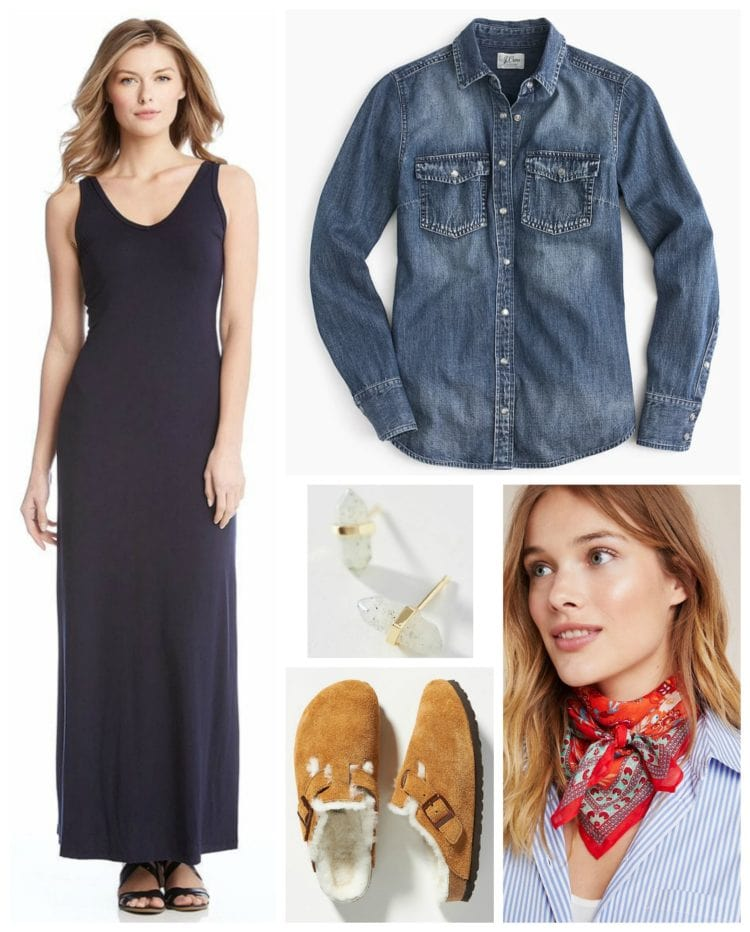 how to style a maxi dress for fall and winter