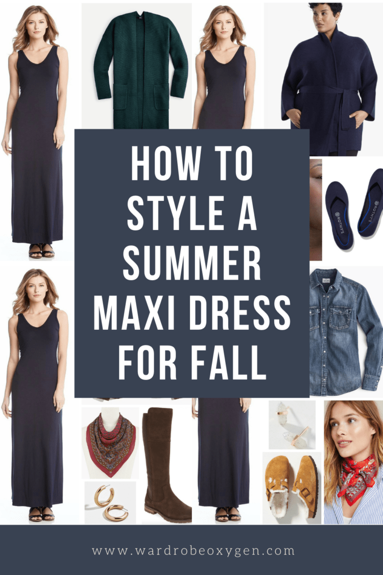 how to style a summer maxi dress for fall