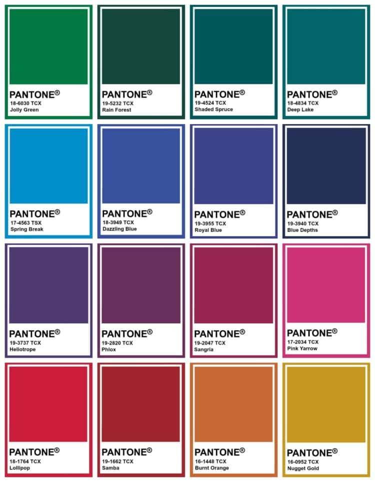 pantone jewel tones