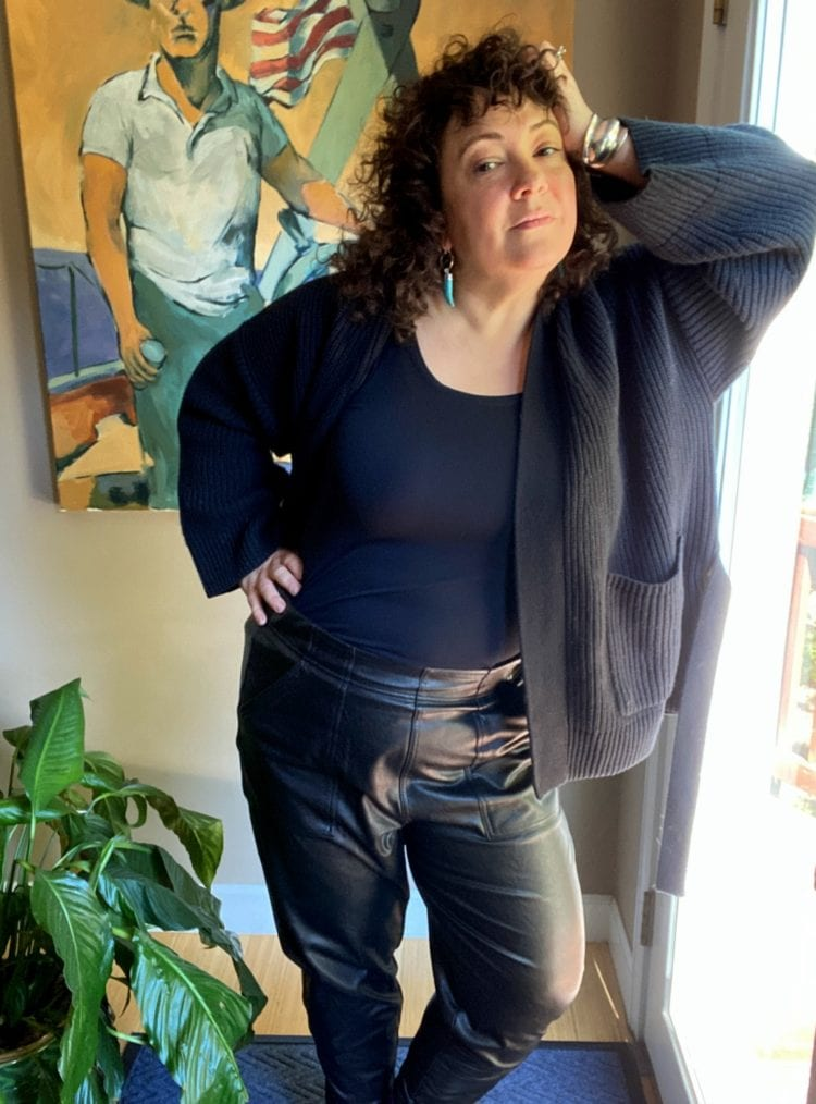 spanx leather like jogger review