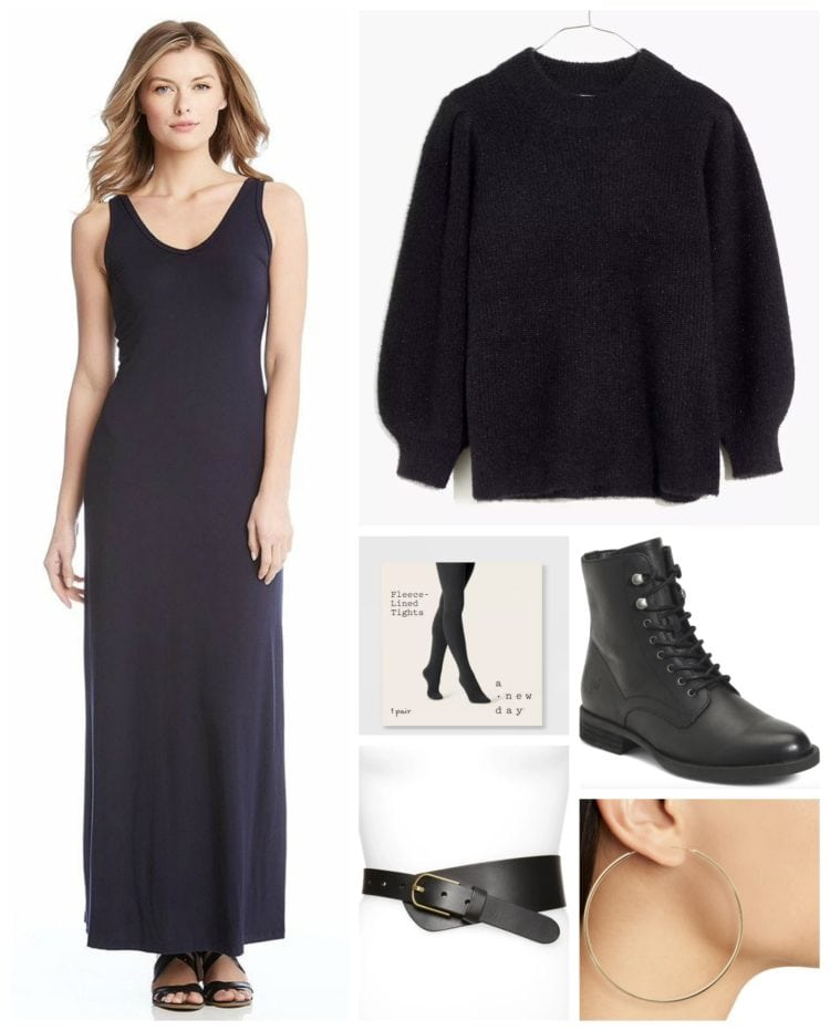 styling a maxi dress for fall by wardrobe oxygen