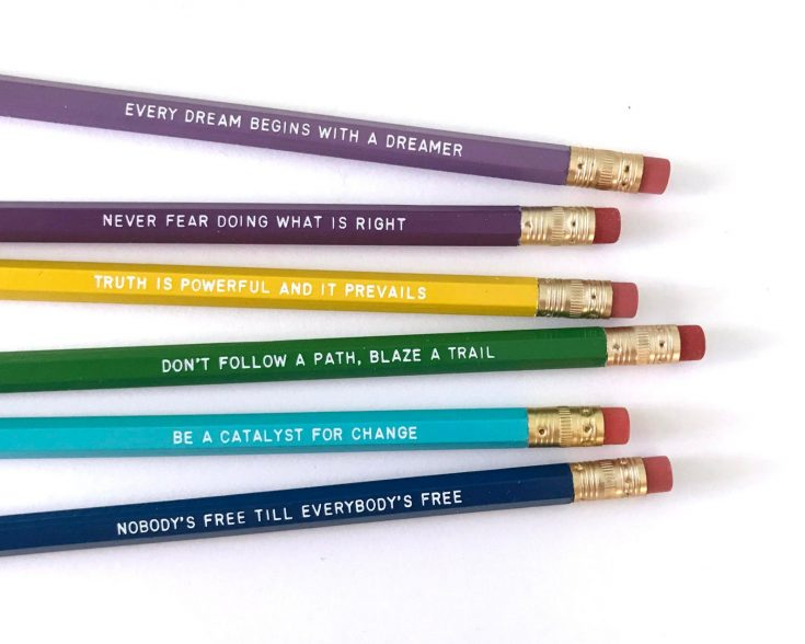 black feminists pencil set