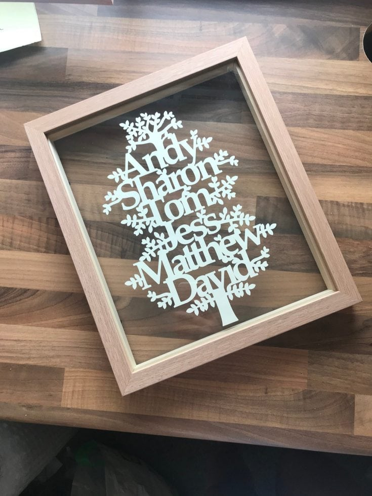 papercut tree family frame gift guide for families