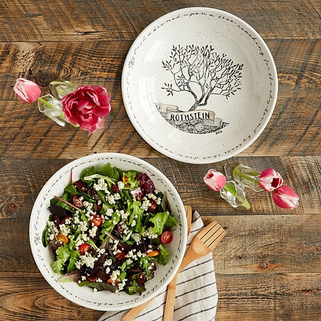 personalized family tree serving bowl
