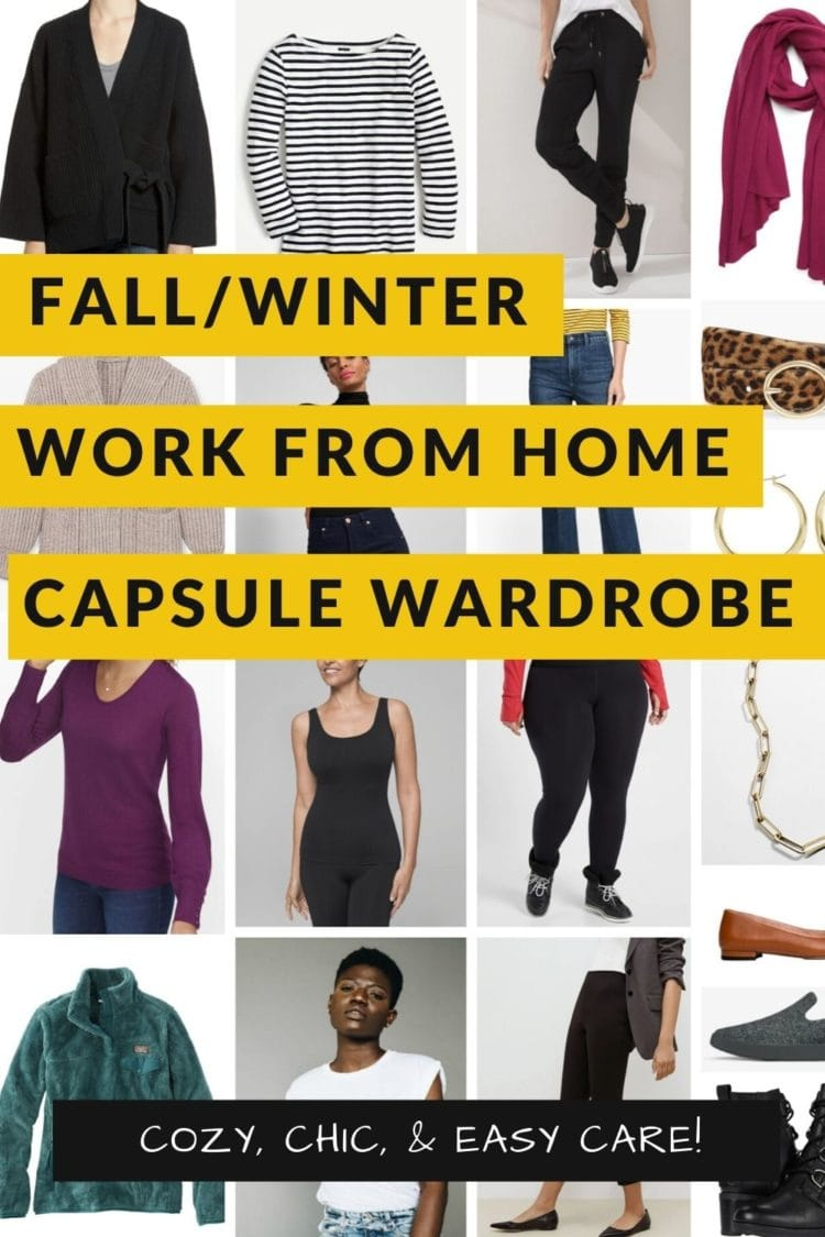 work from home capsule wardrobe fall winter