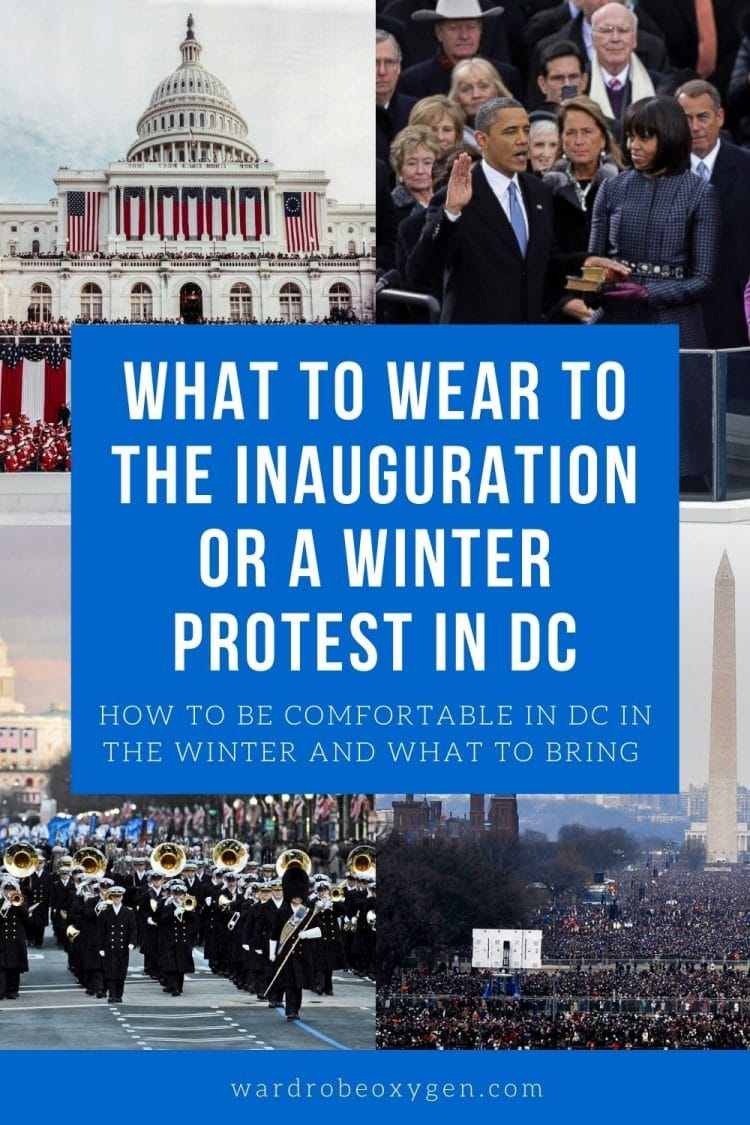 What to wear to a winter protest or inauguration in DC