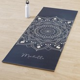 white mandala printed yoga mat personalized yoga rug thick yoga mat yoga lover gift pilates yoga mat yoga accessories