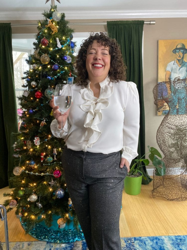 chicos ruffle blouse review